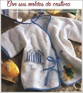 Materiales gráficos Gaby: Salida de baño para niños costura y molde