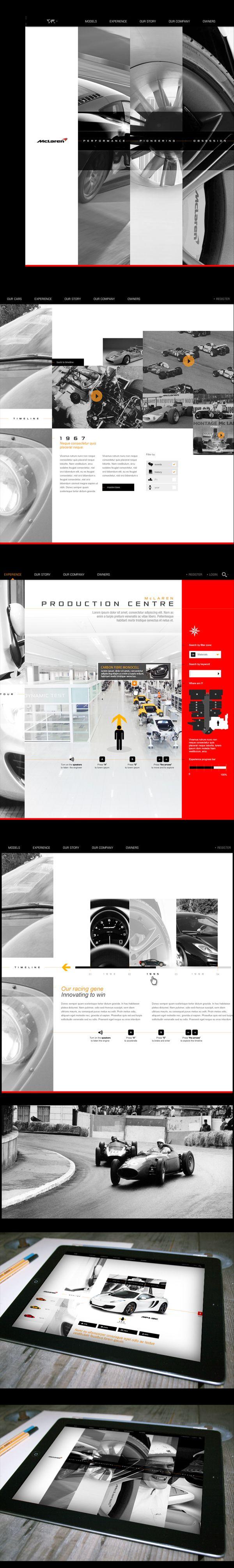 McLaren Automotive Website Pitch by Thomas Moeller, via Behance