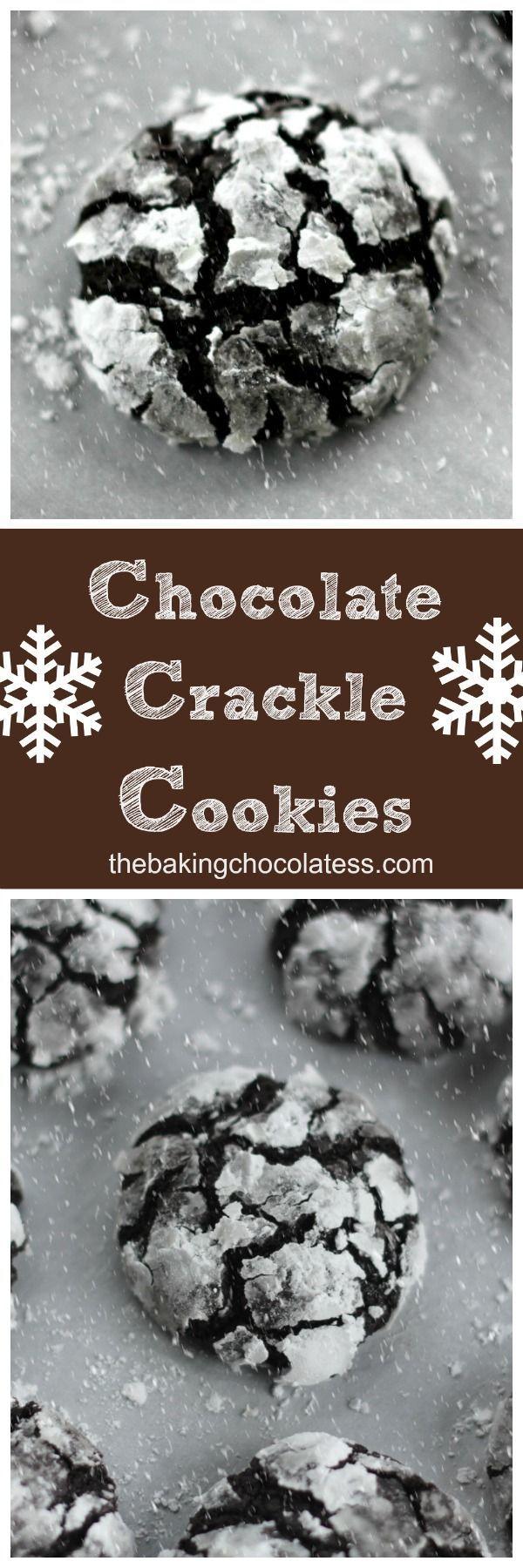 Christmas Chocolate Crackle Cookies via /https/://www.pinterest.com/BaknChocolaTess/