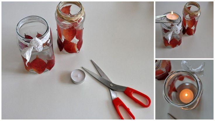 Így rakd a mécsest az üveg aljára - Masni / How to put candles in jars without burning hands, fingers