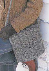 Shetland Cable Knit Bag