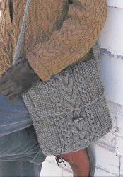 Shetland Cable Knit Bag - love this bag. I'll make one to fit my tablet.