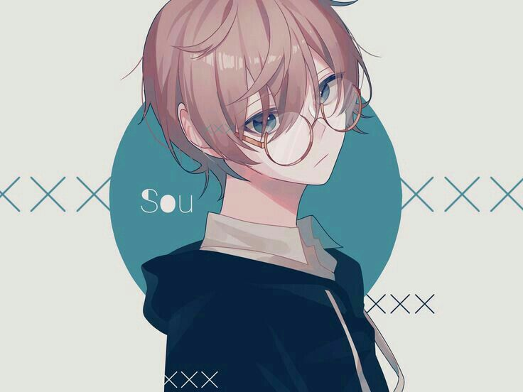 Anime Guy Light Brown Hair Glasses Blue Eyes Anime Guys Anime Anime Glasses Boy