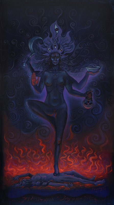 """Kali -""""sweetest mother of the endless night,"""""""