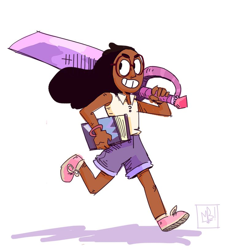 michaeldrawrrett:  Yeah so Stevenbomb 2 is plugging away and it's been GREAT (Did you SEE Sworn to the Sword and Keeping It Together? MAN.) BUT I think we gotta talk about the new intro and a certain Ms. Maheswaran's GIANT BLADE! I think we gotta talk about that. Because it's awesome. Connie's a wonderful character, and with the addition of GIANT SWORDS, even more so! Here's a sketch