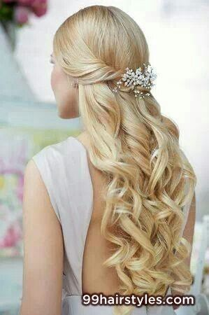 blonde wedding hairstyle idea - 99 Hairstyles Ideas