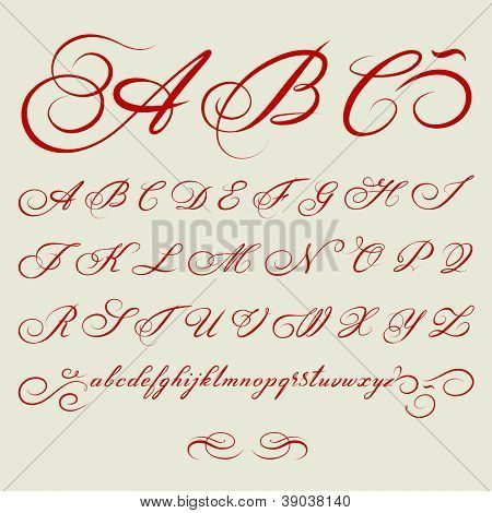 18th century calligraphy fonts | ... calligraphic Alphabet based on calligraphy masters of the 18th century