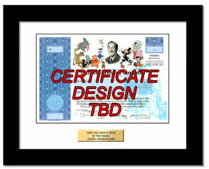 Buy Disney stock in two minutes.  One real share framed for yourself or as a cool gift. Over 100 stocks to choose from.