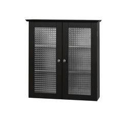 Elegant Home Fashions Madison Avenue Dark Wall Cabinet with Two Doors | Wayfair