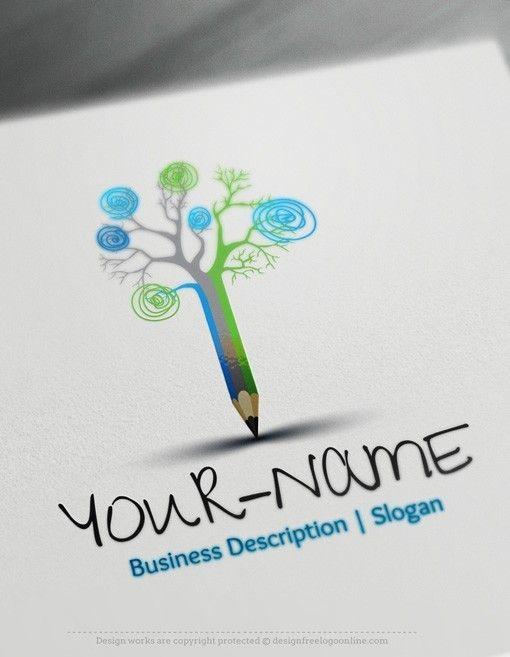 Design Free Logo: Online Pencil Logo Template