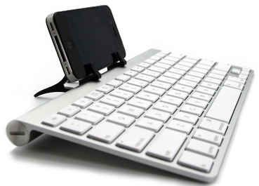 You can use ANY bluetooth keyboard with your iPhone or iPad.