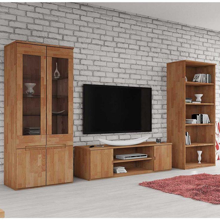 Wohnkombination aus Buche Massivholz geölt (3-teilig) Jetzt - wohnzimmerschrank buche massiv