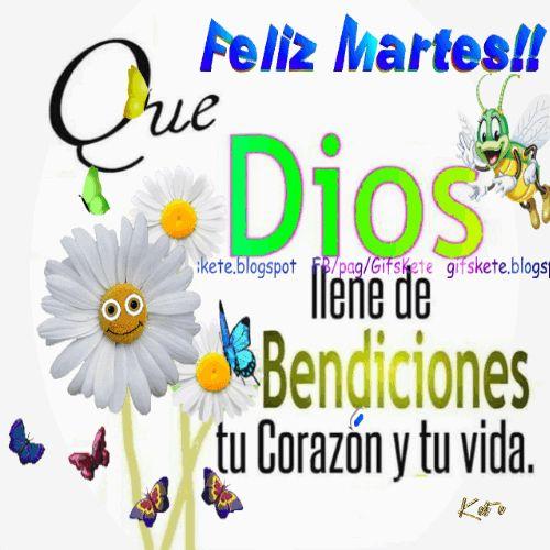Feliz martes!! Que Dios llene de bendición tu corazón y tu vida.