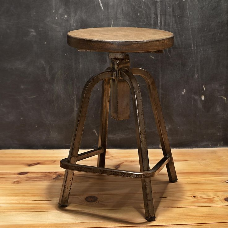 M s de 25 ideas incre bles sobre taburete antiguo en - Taburete madera regulable ...