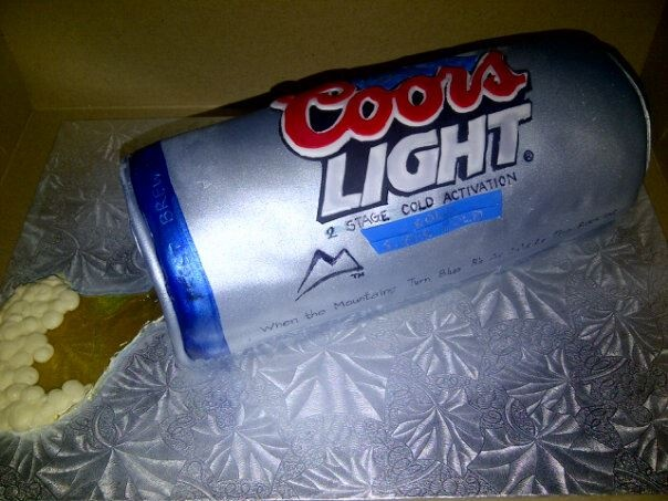 3d Coors Light Beer Can Cake By House Of Cake Sarnia