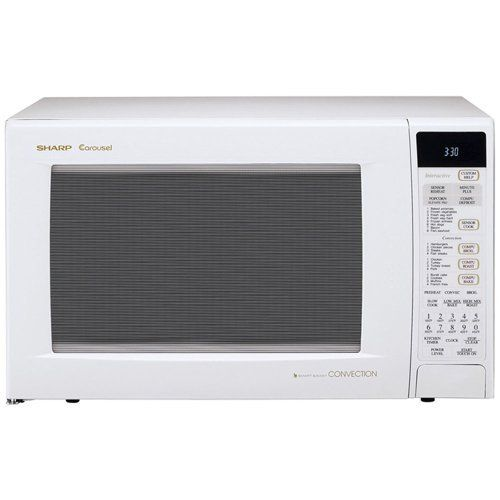 Sharp Microwave Oven R 930aw White Convection Sensor Cook Interactive Display Compudefrost Plus