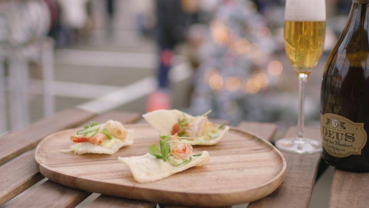 Scampi bearnaise met gepekelde komkommer | Dagelijkse kost