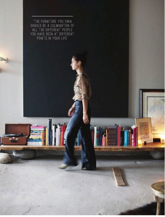 :: WALLS :: love the quote on the wall and the bold black, simple yet beautiful #walls