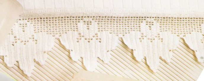 Pontas sem canto, para toalhas turcas.        manela