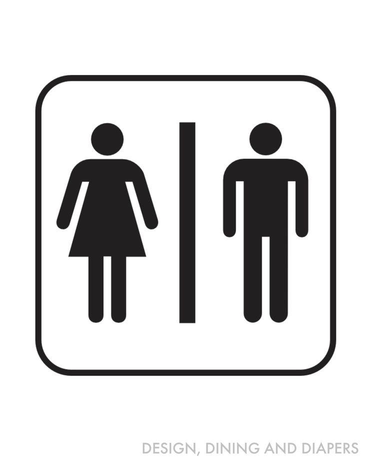 free bathroom printables - Bathroom Symbol