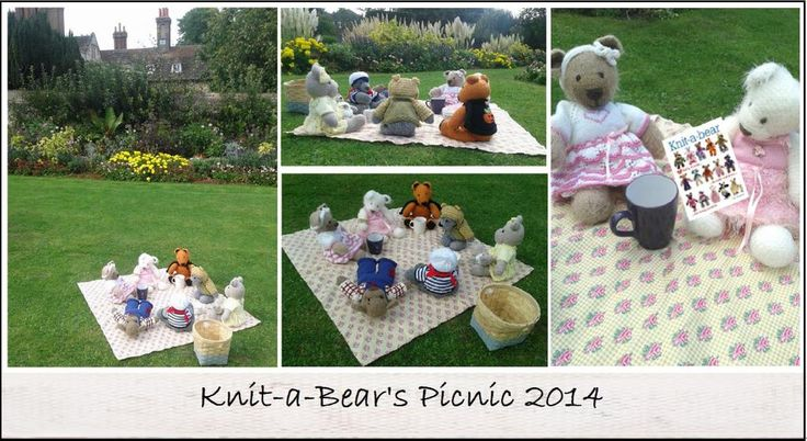We had a teddy bears' picnic with Val Pierce's adorable creations from Knit-a-Bear, yours to order from the gmc website.
