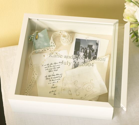 Wedding Keepsake Box, White with Optional Personalization (I'm thinking this would also be perfect for a baby keepsake box!)