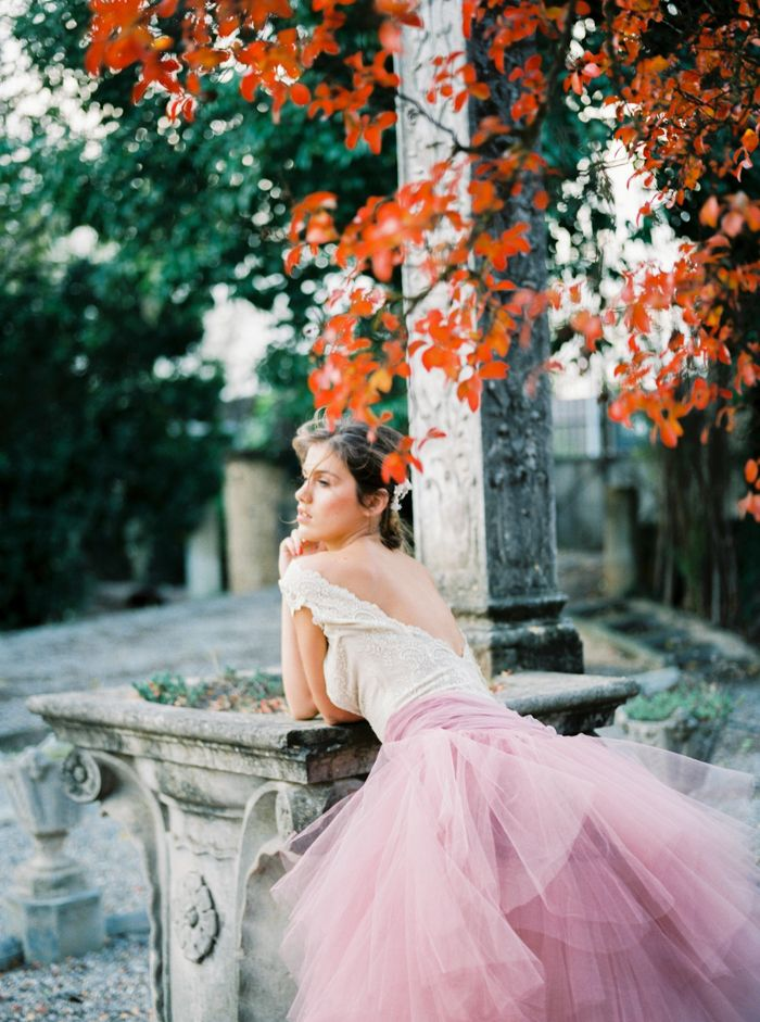 gorgeous wedding dress with pink petticoats!