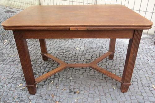 Esstisch Holz Oval Ausziehbar ~ Alter, großer Tisch Esstisch Holz Jugendstil ausziehbar Gründerzeit