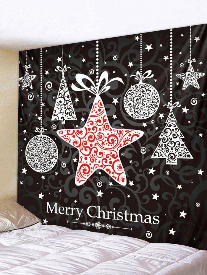 Christmas Hanging Star Print Tapestry Wall Hanging Art Decoration Ad Sponsored Star Print Christmas Ha Printed Tapestries Hanging Art Wall Tapestry