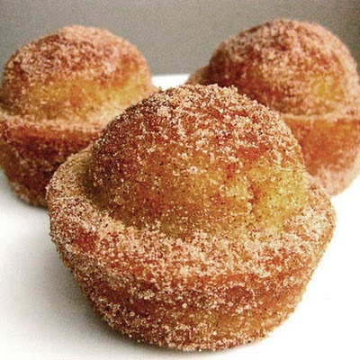 Coffee Cake Muffins Crusted with Cinnamon and Sugar