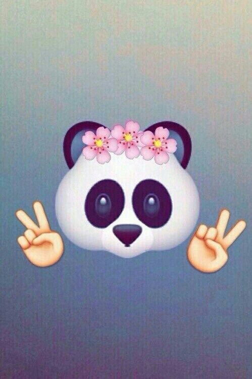panda, emojis, and wallpaper Bild