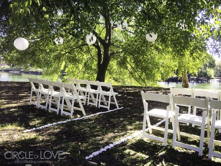 Gold Coast #GardenWedding Ceremony set up by Circle of Love at Cascade Gardens, Broadbeach  Looking for a #MarriageCelebrant too?   Gold Coast Celebrations ~ Tennille Jones