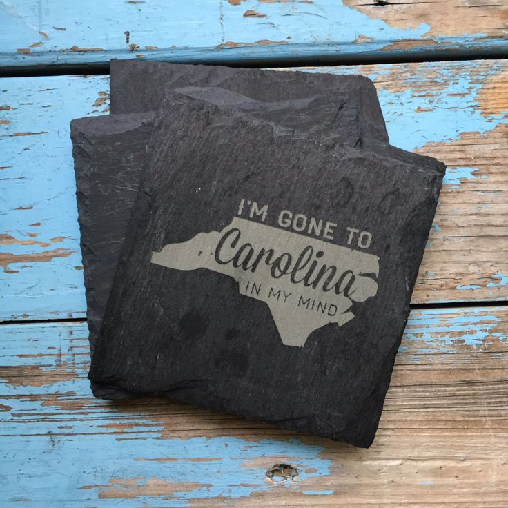 Slate Coasters - North Carolina, Song Lyrics, Bar Cart, Bar Coaster, Home Decor, Carolina in My Mind, Engraved Coasters, Gifts for Her by 55OnlineBoutique on Etsy https://www.etsy.com/listing/189958784/slate-coasters-north-carolina-song