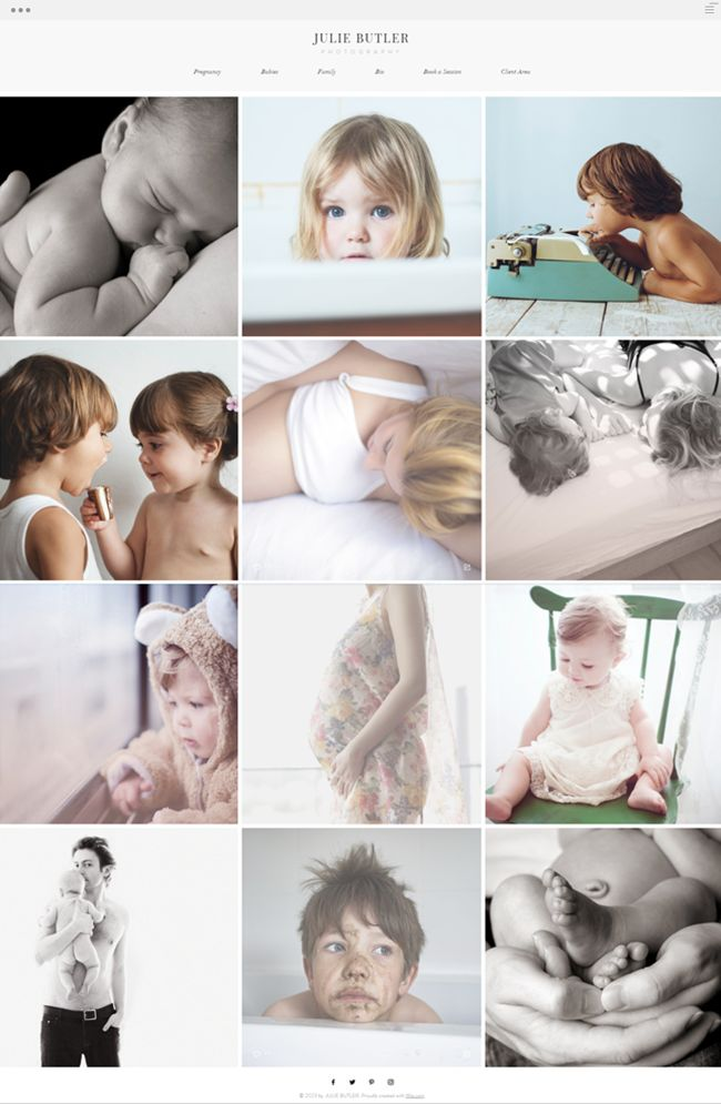 Family Photographer Website Template