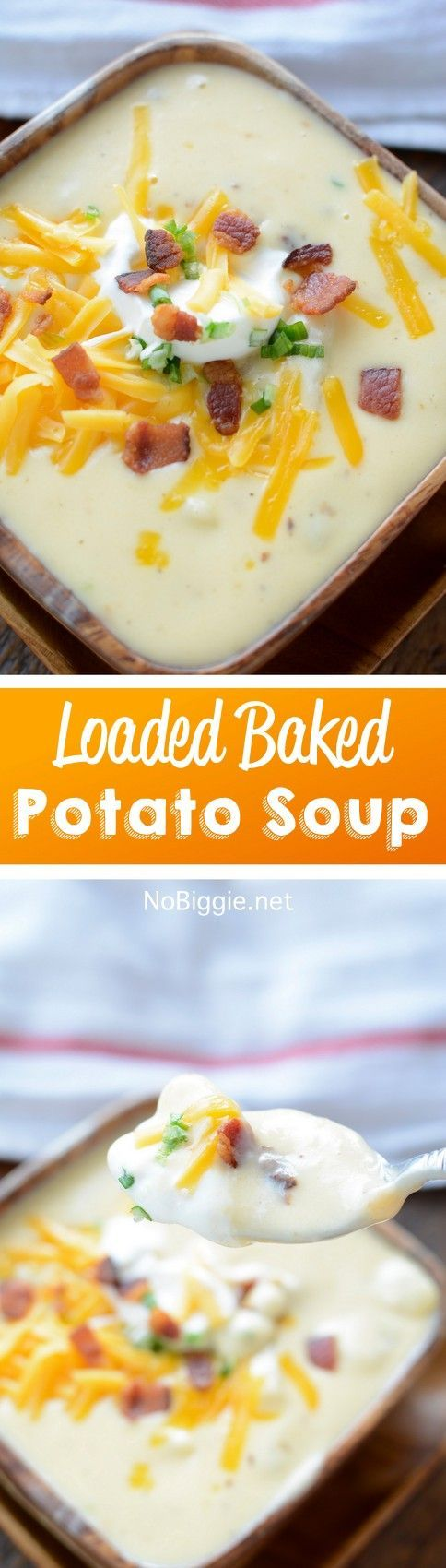 loaded baked potato soup recipe | http://NoBiggie.net
