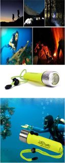 Free shipping world wide ​XM-L Waterproof 1200LM 2-Mode LED Diving Flashlight Torch Lamp Light - Green