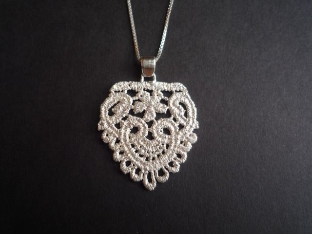 Lace Pendant Sterling Silver