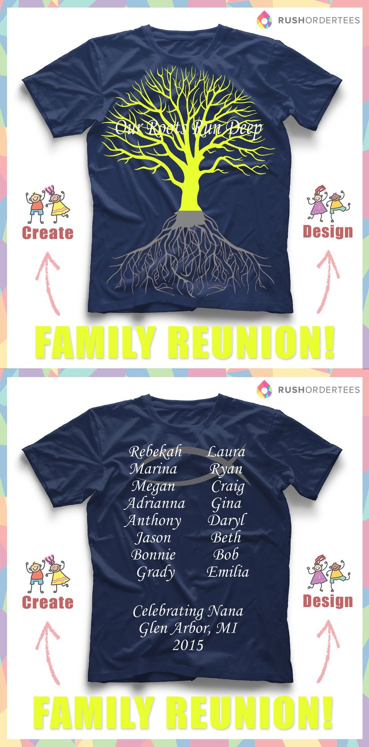 Custom design t shirts vancouver -  Our Roots Run Deep Family Reunion Custom T Shirt Design Idea S Create