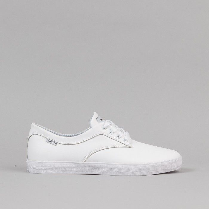 Huf Sutter Shoes - White Premium Leather   Flatspot