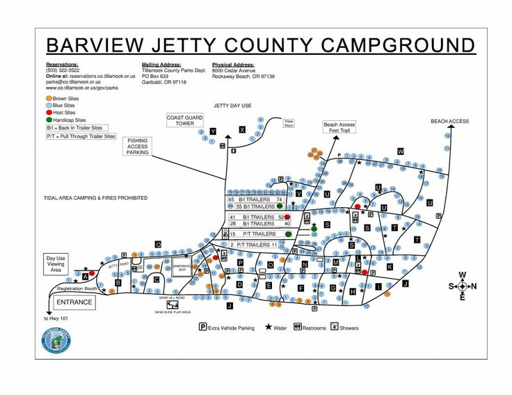 A Current Map Of Barview Jetty Campground Courtesy Of