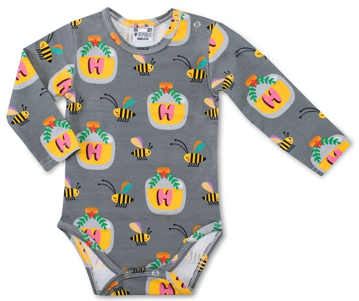 Hi Honey! Celebrate how important bees are with this sweet onesie. From Raspberry Republic offered by Modern Rascals.