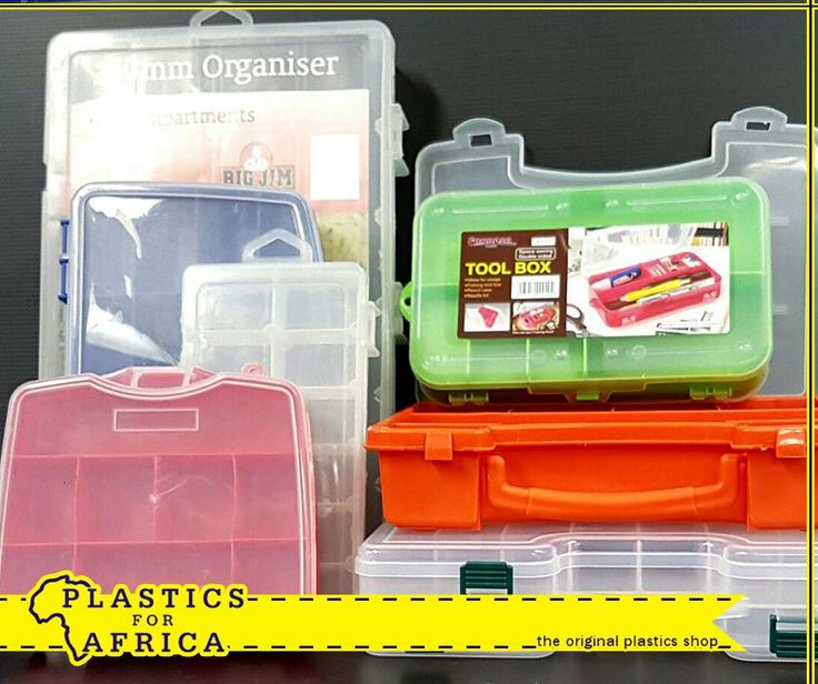 These bead and small parts storage trays and containers, available from #PlasticsforAfrica are ideal for storing small parts, arts and craft supplies.