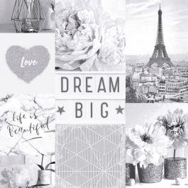 Collage Wallpaper Dream Big Paris Collage Wallpaper Mono Arthouse 692100 iPhone X Wallpaper 589267932472868949