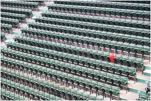 The Red Seat #FenwayPark in #Boston. #BostonStrong #RedSocks #Photography #Flickr @Kathi Winslow @FenwayEvents @Mary-Lynn Bragg