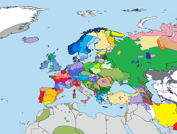 Detailed map of languages and dialects spoken in Europe. Image source: www.deviantart.com