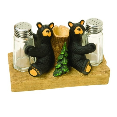 Bearfoots Bears Salt U0026 Pepper With Toothpick Holder   Kolorful Kitchen
