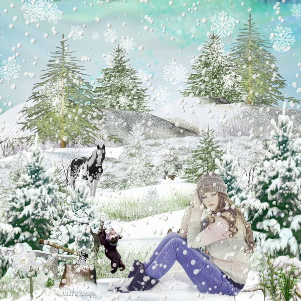 "Magic Snow Queen in Winterland by Desclics  Available @ <a href=""http://www.paradisescrap.com/fr/376-desclics"" rel=""nofollow"">www.paradisescrap.com/fr/376-desclics</a> Photo Lorri Lang @ Pixabay"