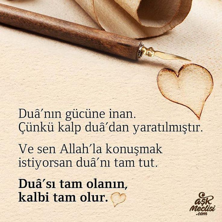 Duanın gücüne inan. Çünkü kalp duadan yaratılmıştır. Ve sen Allah'la konuşmak istiyorsan duanı tam tut: Duası tam olanın kalbi tam olur… #iyiakşamlar #goodnight #aşk #love #sevgi #mutluluk #happy #sokakmodasi #sokakyazıları #duvaryazıları #aşk #sevgi #mutluluk #özlemek #kavuşmak #şiir #türkiye #istanbul #derttaş #edebiyat #hasret #melek #izmir #yunusemre #mevlana #şemsitebrizi #cemalsüreya #namıkkemal #kitapkurdu #kitaptavsiyesi #şiir #şiirsokakta