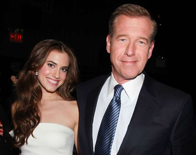 Allison Williams with Brian Williams - ASSOCIATED PRESS