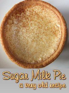 Sugar Milk Pie.